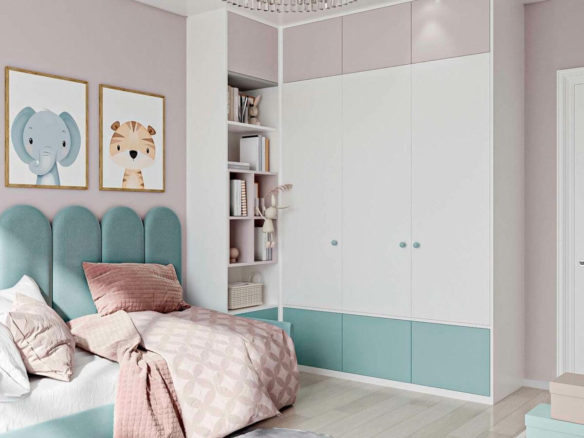 Мебель детской комнаты девочки 1-6 лет проект 5773-3
