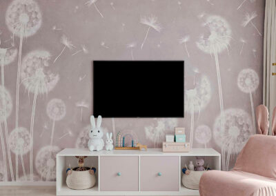 Мебель в нежных тонах для детской комнаты девочки 1-6 лет — проект 5773