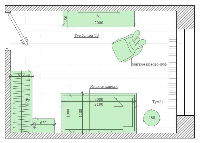 Мебель детской комнаты девочки 1-6 лет проект 5773-8