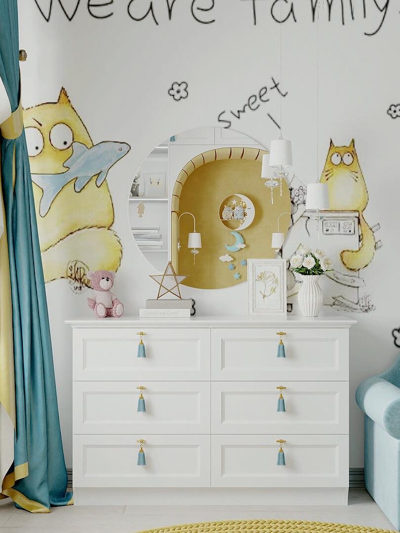 Мебель детской комнаты девочки 2-5 лет проект 4611-5