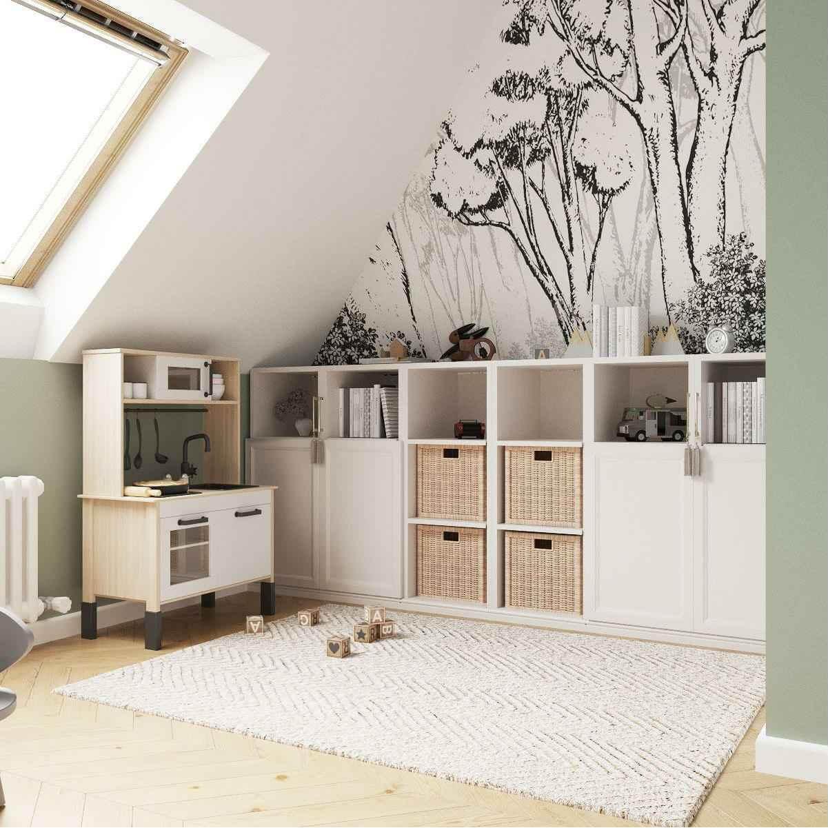 Мебель детской комнаты девочки 3-5 лет проект 4035-2