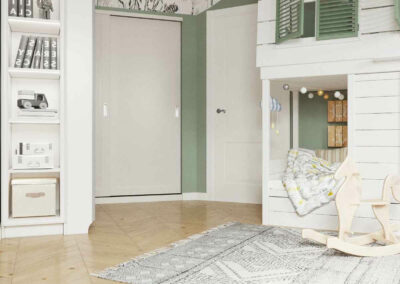Белая мебель в детскую комнату девочки 3-5 лет — проект 4035