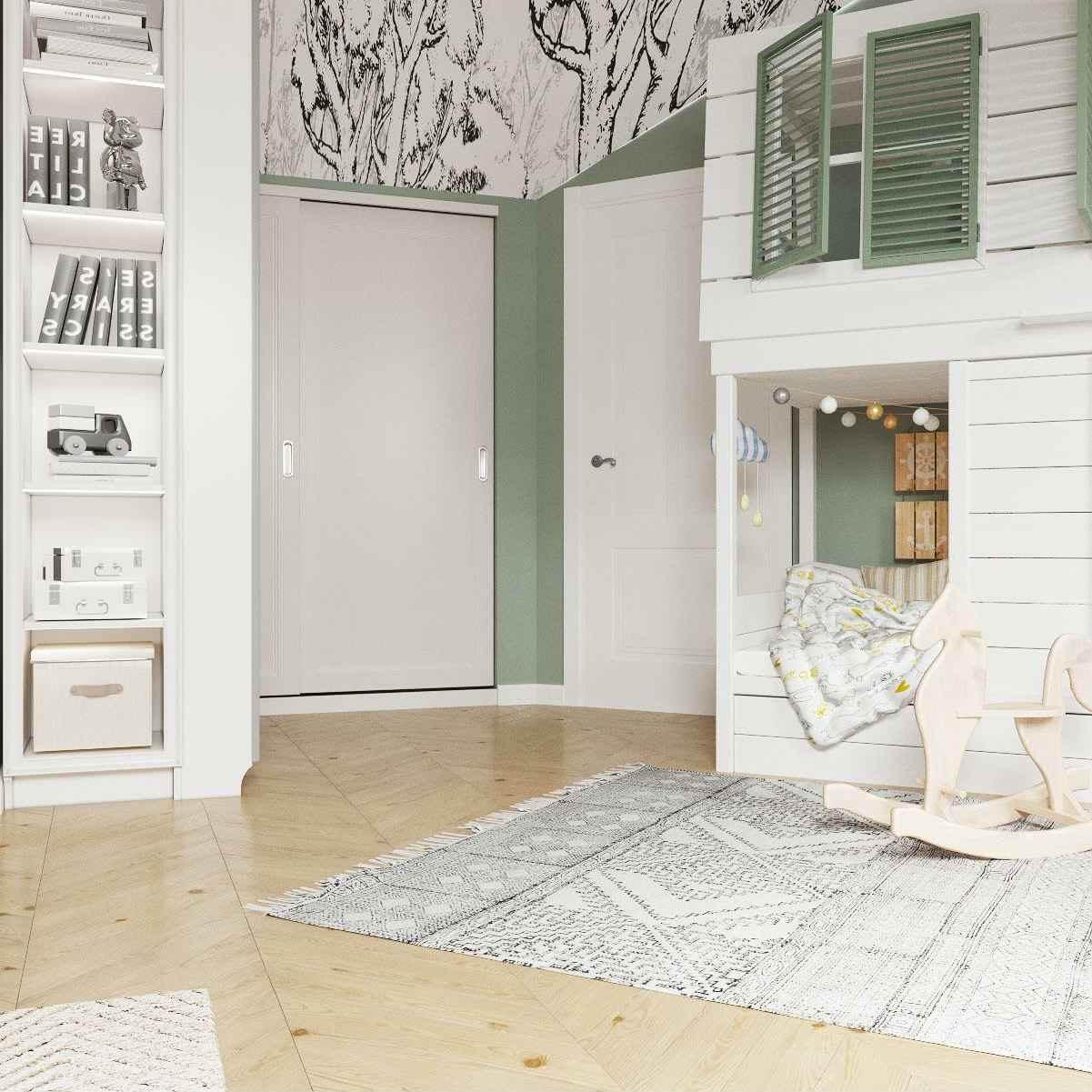 Мебель детской комнаты девочки 3-5 лет проект 4035-3
