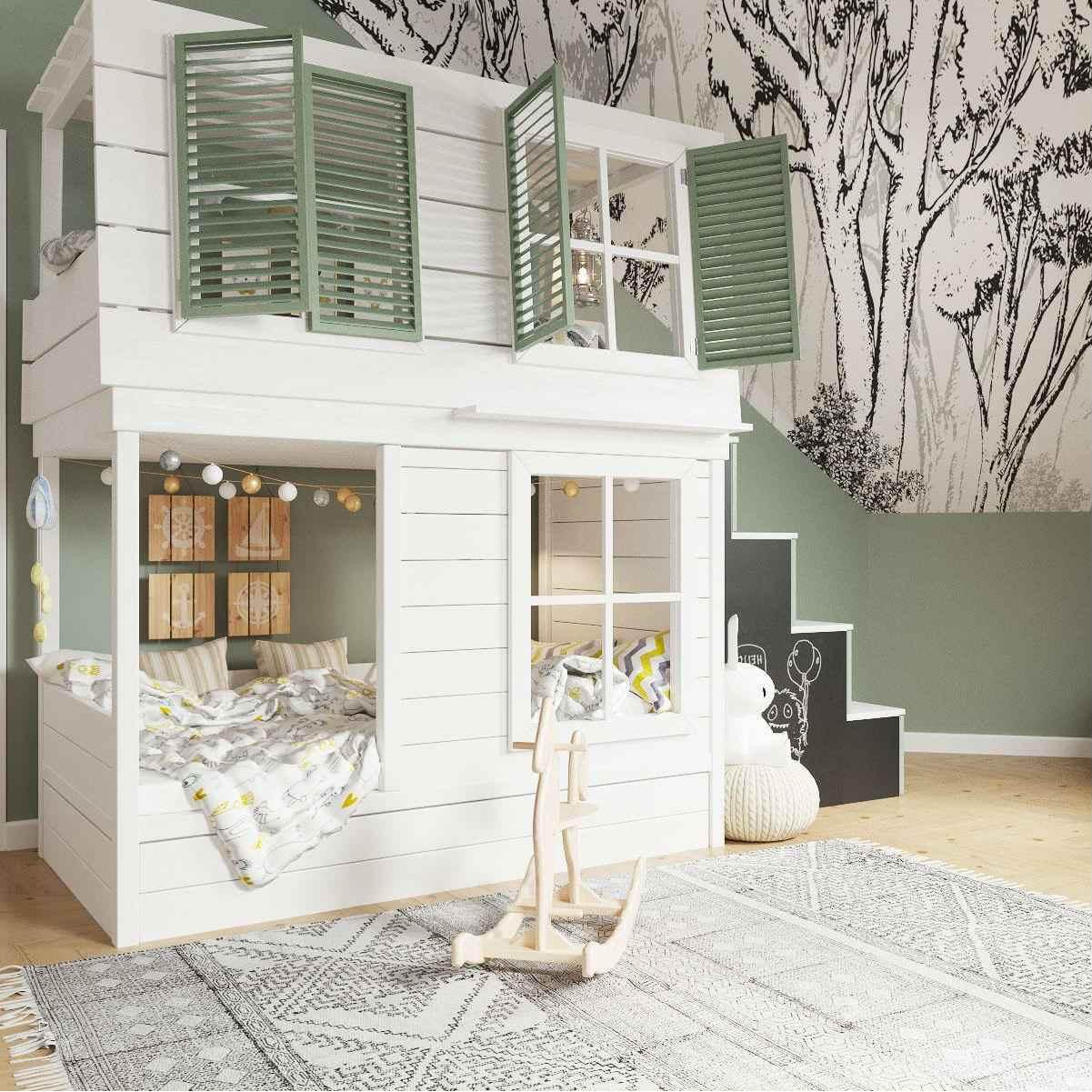 Мебель детской комнаты девочки 3-5 лет проект 4035-4