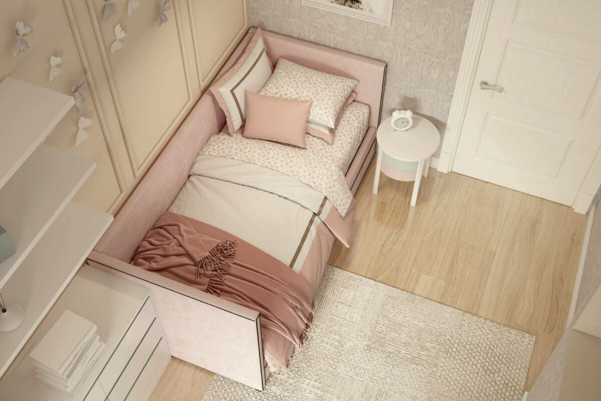 Мебель детской комнаты девочки 3-7 лет проект 4253-4