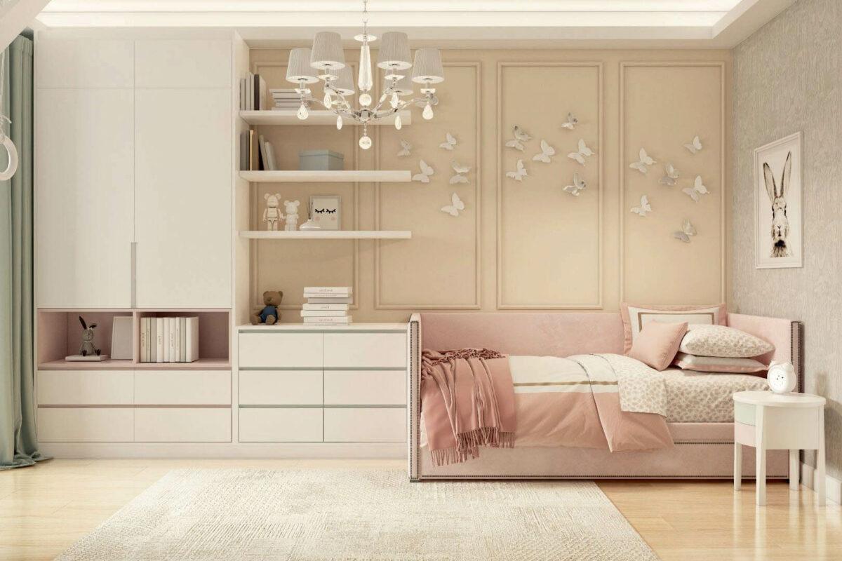 Мебель детской комнаты девочки 3-7 лет проект 4253-5