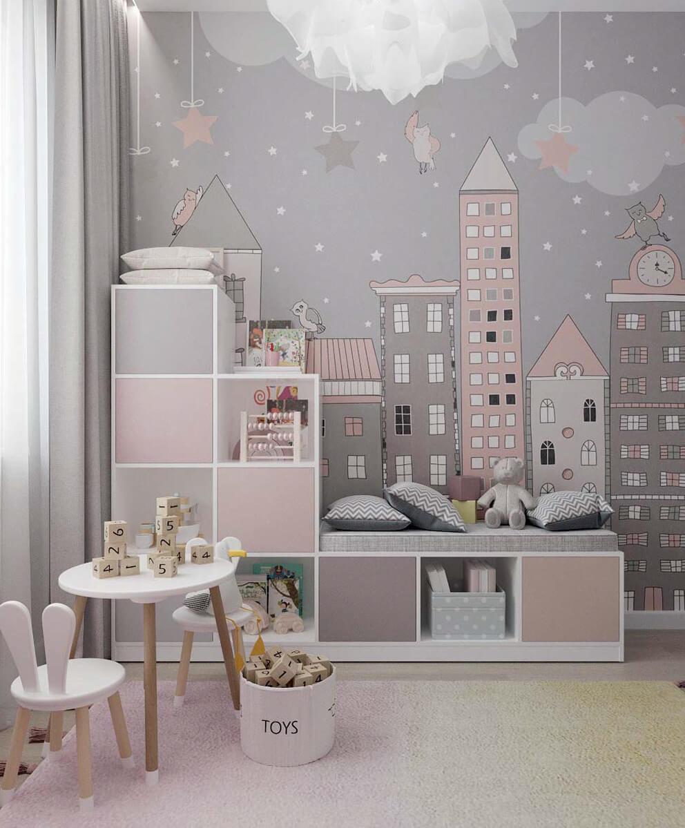 Мебель детской комнаты девочки проект 4031-2-2