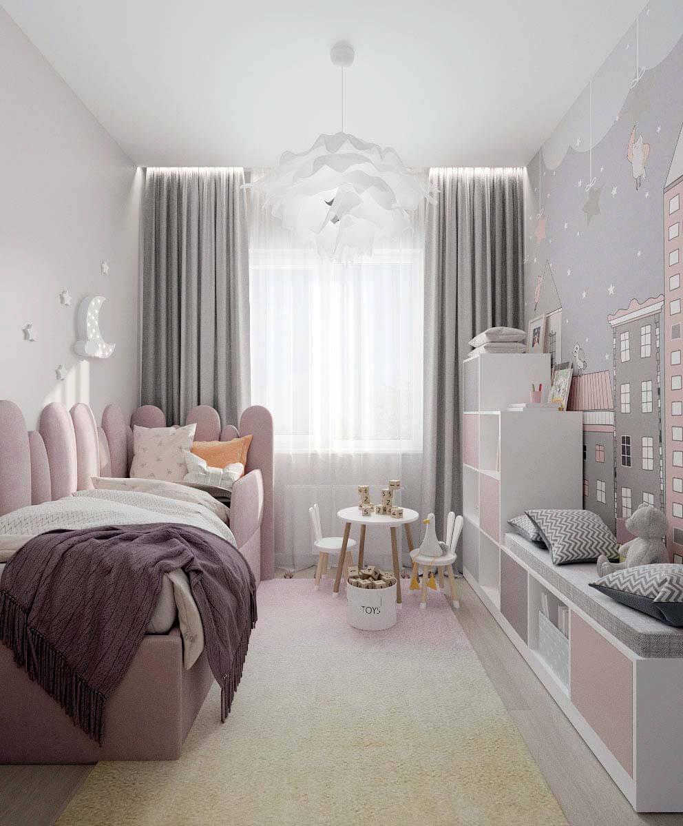 Мебель детской комнаты девочки проект 4031-2-3
