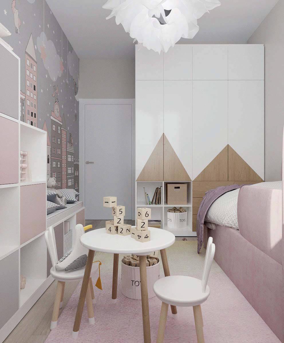 Мебель детской комнаты девочки проект 4031-2-4
