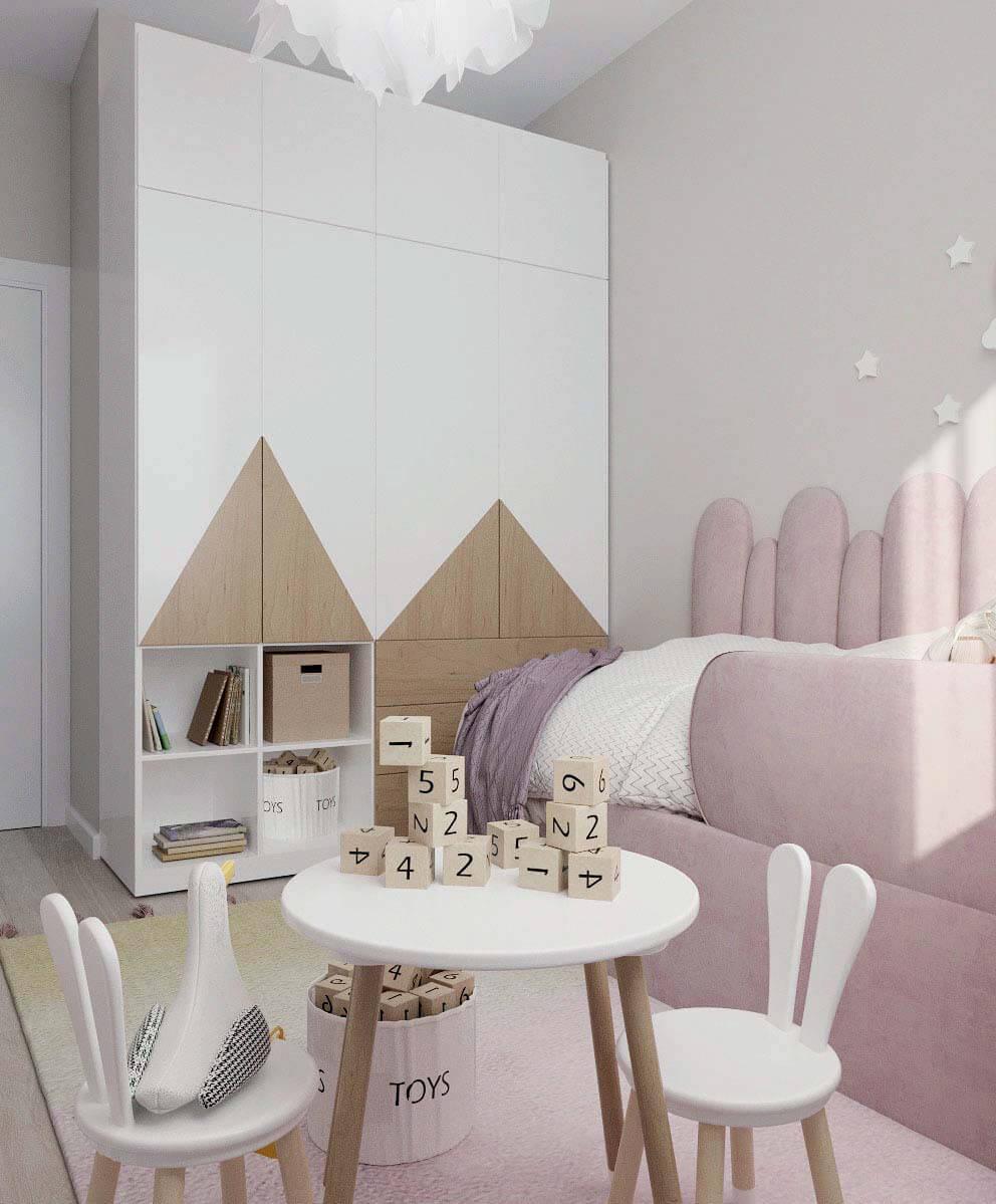 Мебель детской комнаты девочки проект 4031-2-5