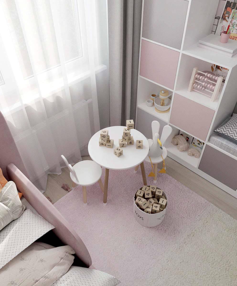 Мебель детской комнаты девочки проект 4031-2-6