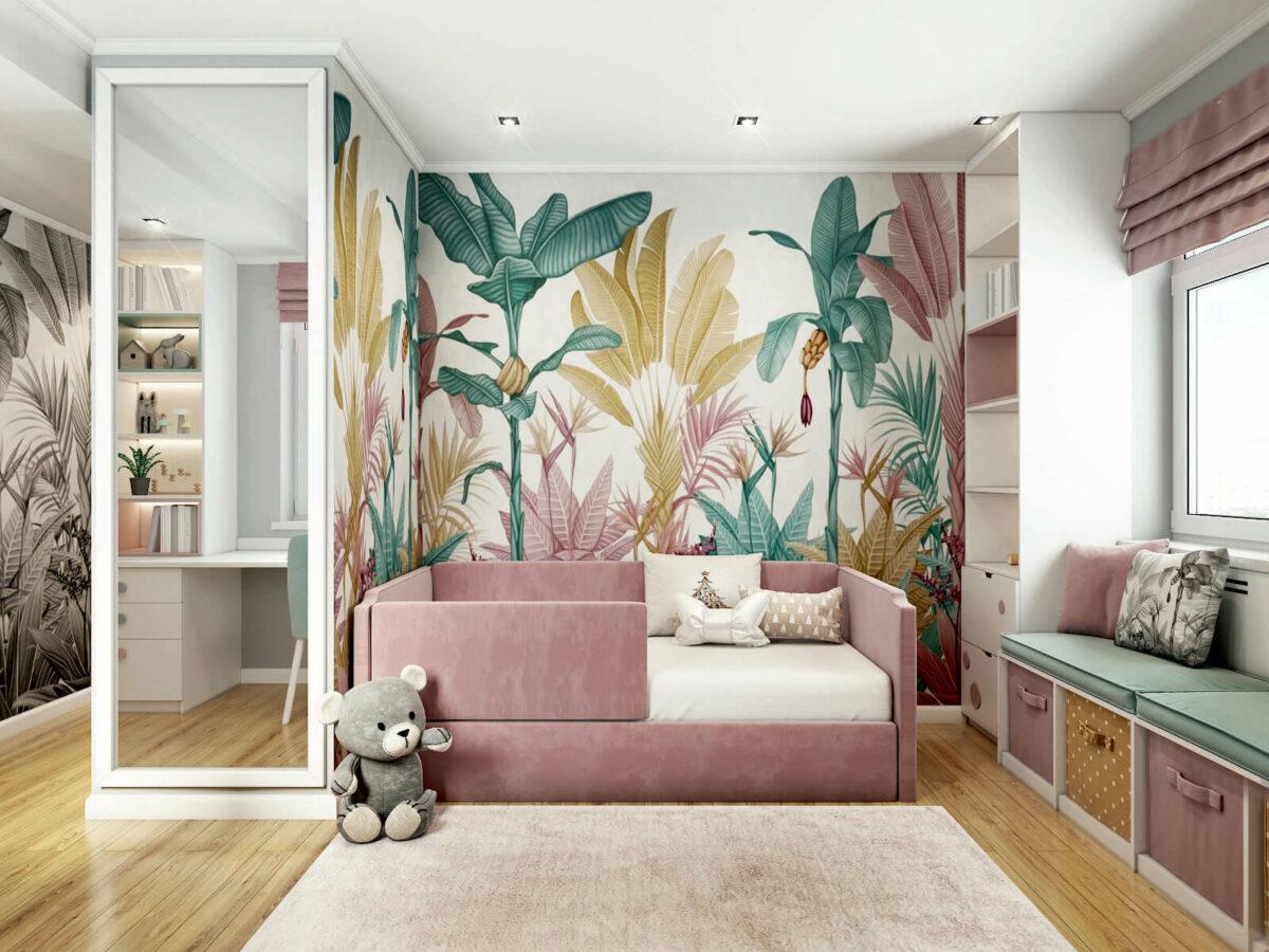 Мебель детской комнаты девочки проект 5213-5