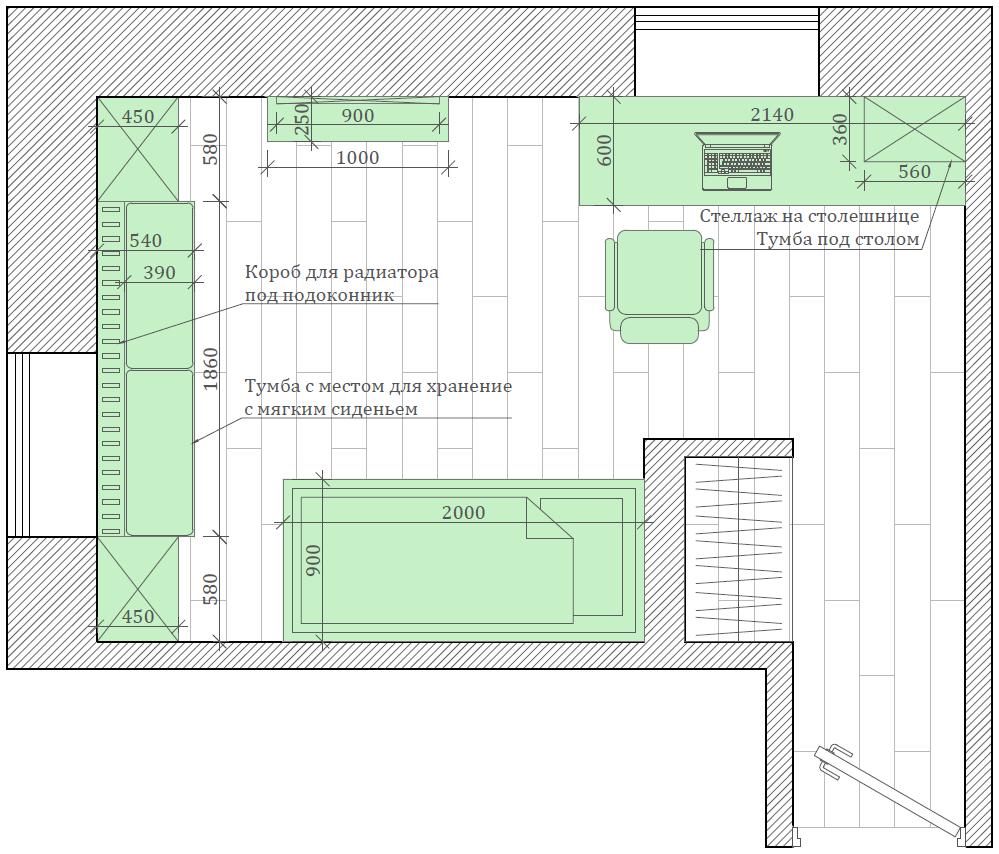 Мебель детской комнаты девочки проект 5213-6