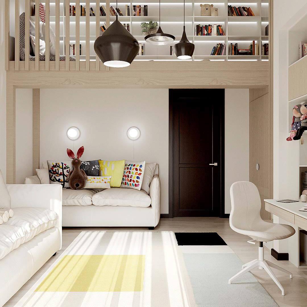 Мебель детской комнаты девочки-школьницы проект 4653-4