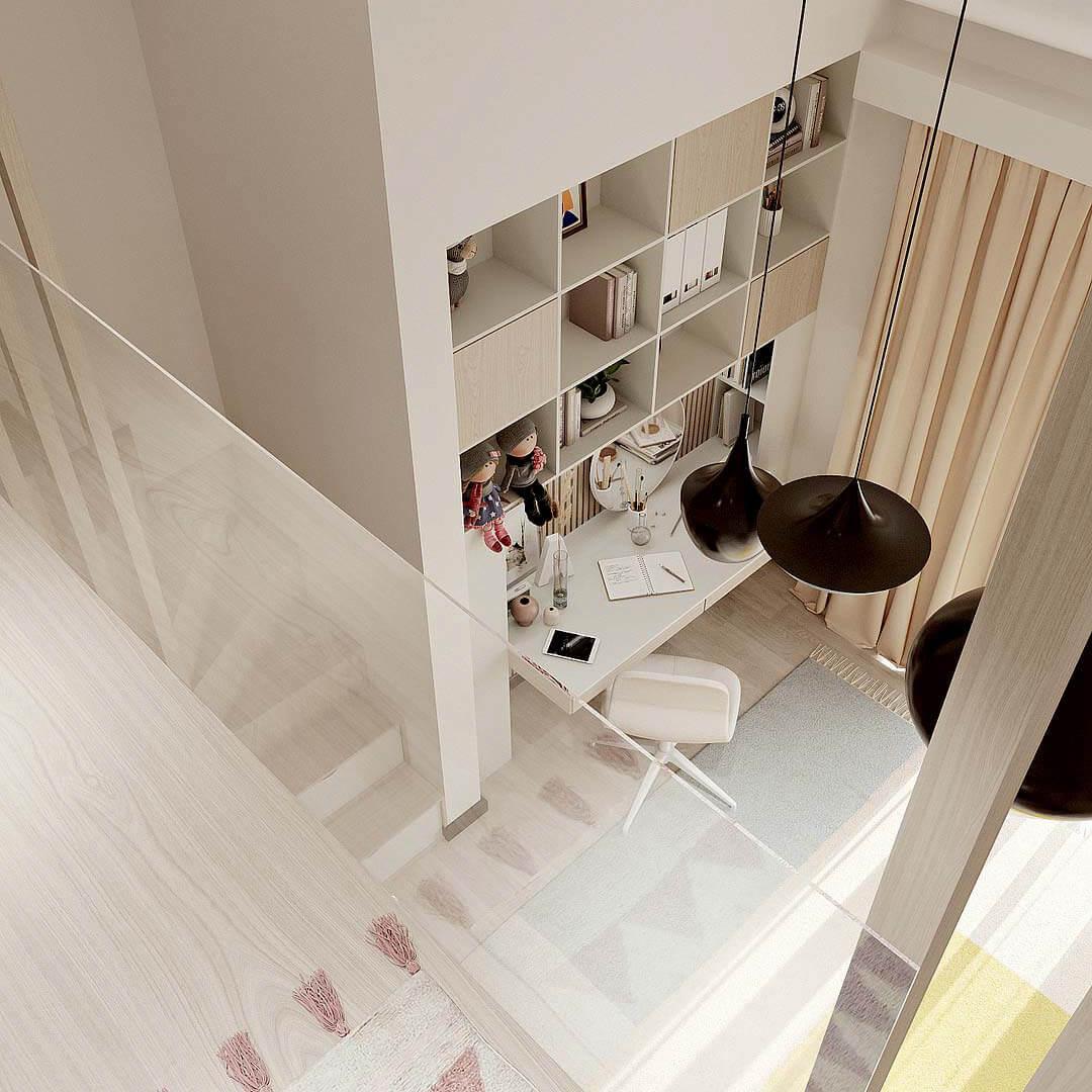 Мебель детской комнаты девочки-школьницы проект 4653-5