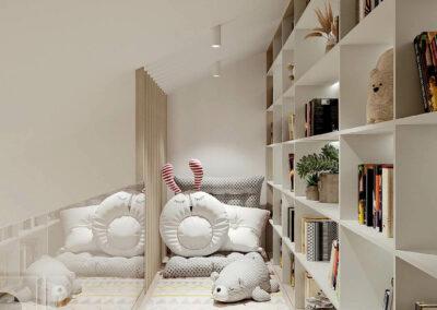 Красивая мебель детской комнаты девочки-школьницы — проект 4653
