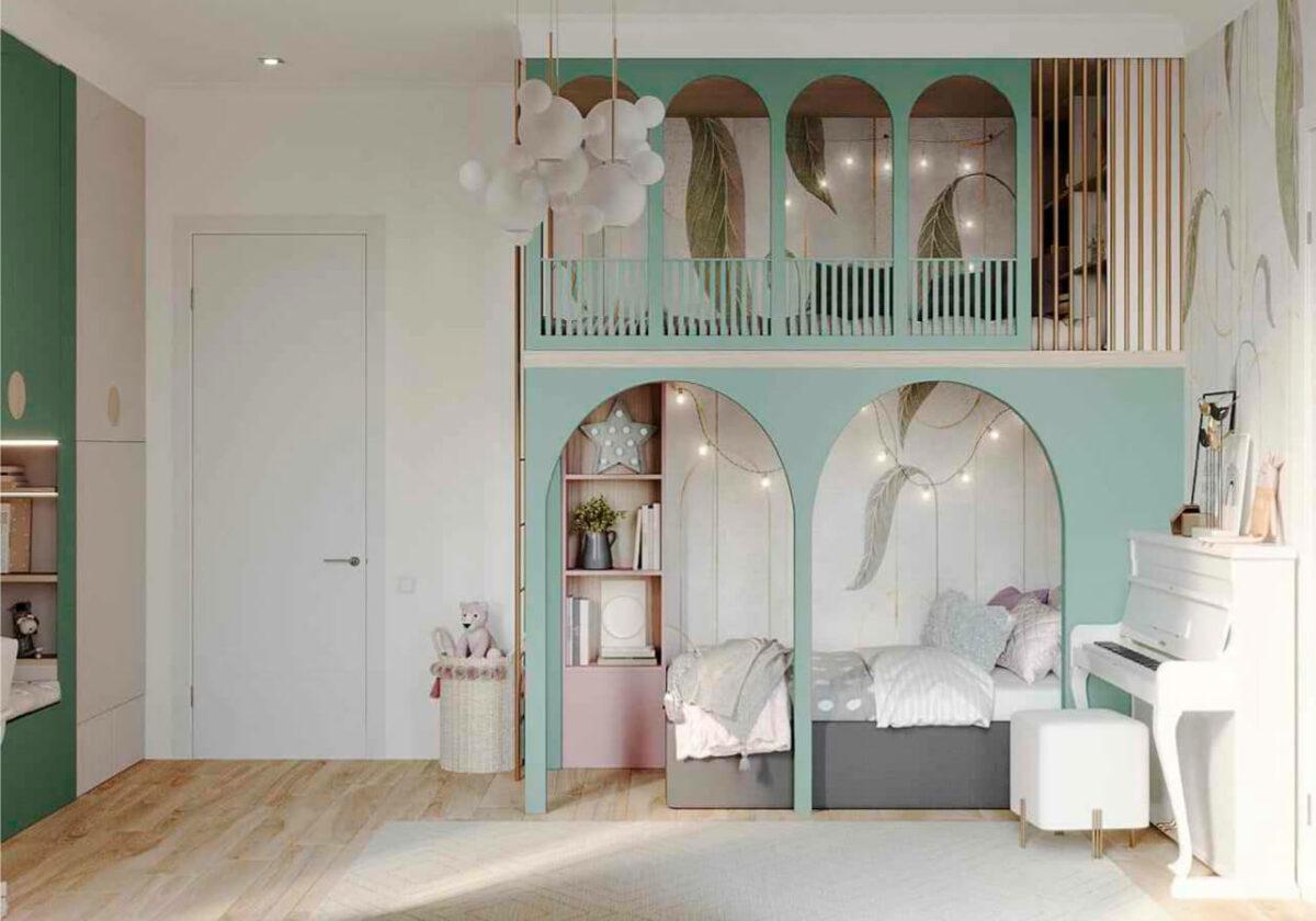 Мебель детской комнаты девочки-школьницы проект 4915-2