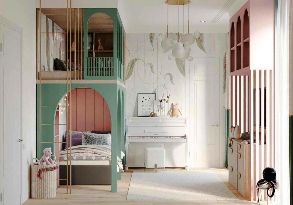 Мебель детской комнаты девочки-школьницы проект 4915-3