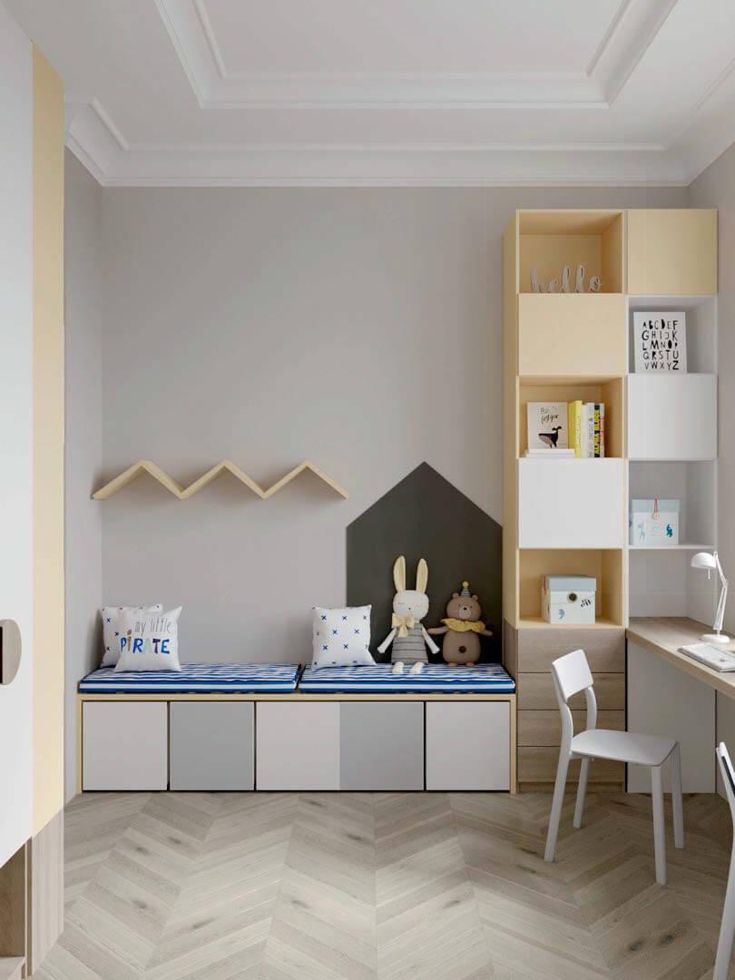 Мебель детской комнаты для 2 мальчиков проект 3889-2