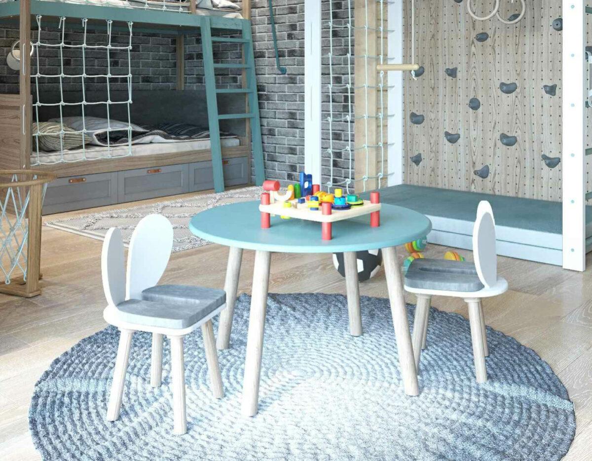 Мебель детской комнаты для 2 мальчиков проект 3979-4