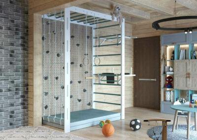 Функциональная мебель детской комнаты для двух мальчиков — проект 3979