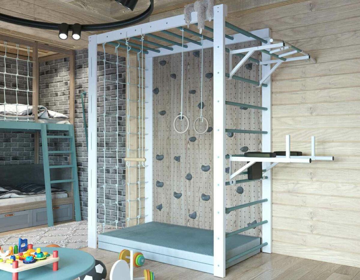 Мебель детской комнаты для 2 мальчиков проект 3979-6