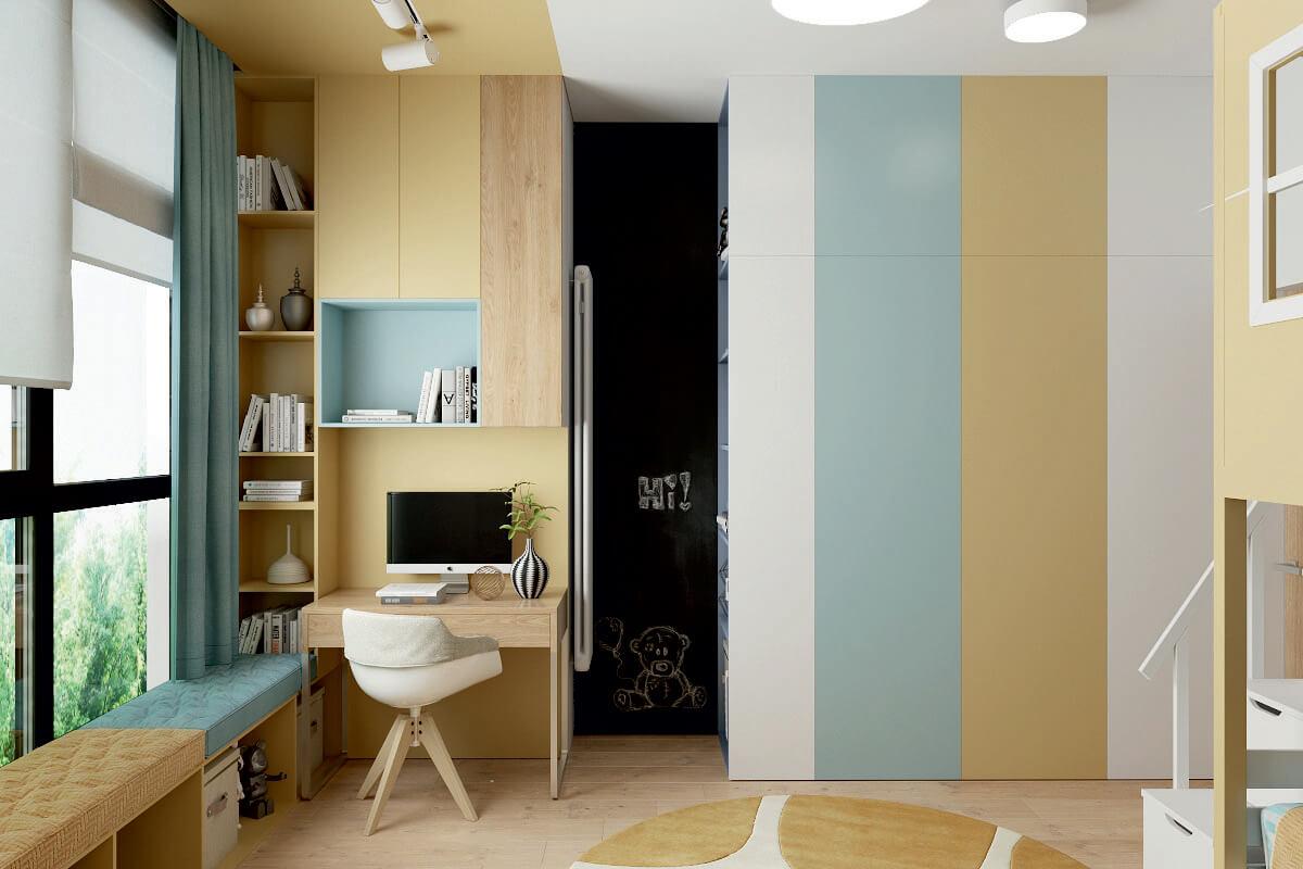 Мебель детской комнаты для 3 детей 4335-1