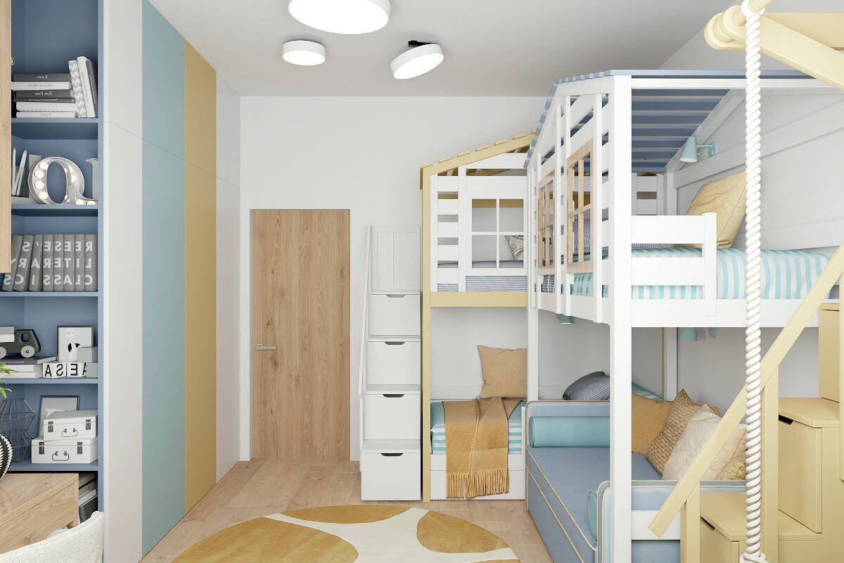 Мебель детской комнаты для 3 детей 4335-3