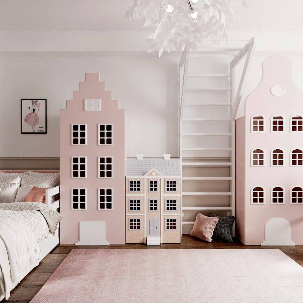 Мебель детской комнаты для 3 девочек проект 3435-6