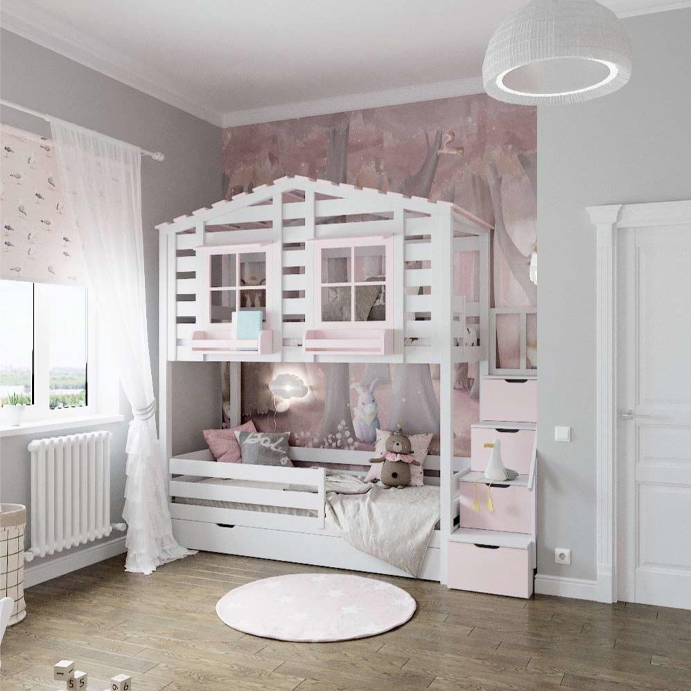 Мебель детской комнаты для девочки проект 3101-1