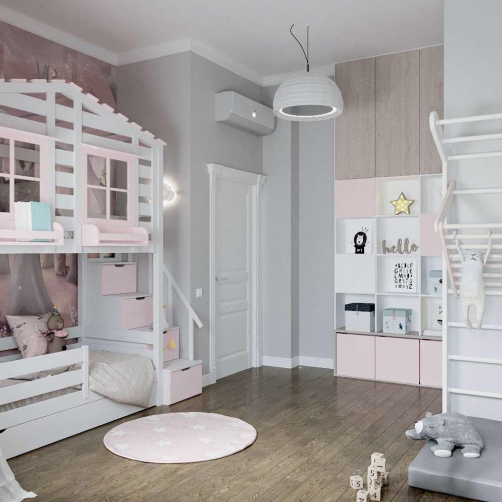 Мебель детской комнаты для девочки проект 3101-3