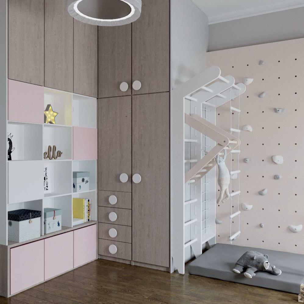 Мебель детской комнаты для девочки проект 3101-4
