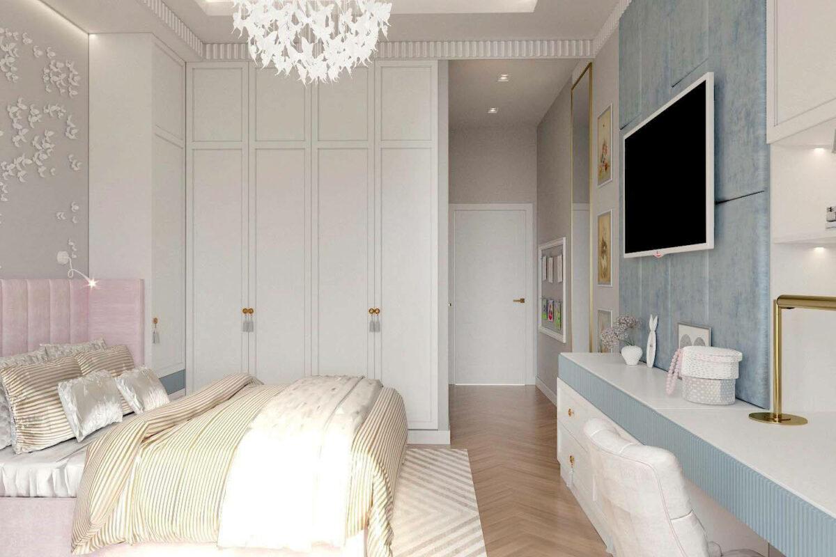 Мебель детской комнаты для девочки-школьницы проект 3847-4