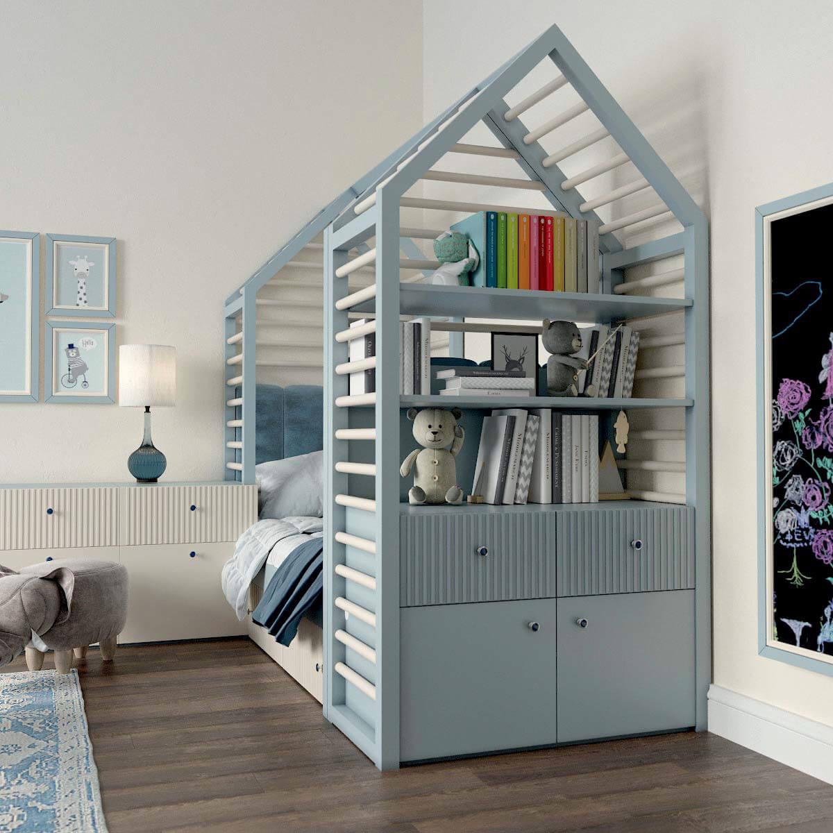 Мебель детской комнаты для мальчика проект 3123-1