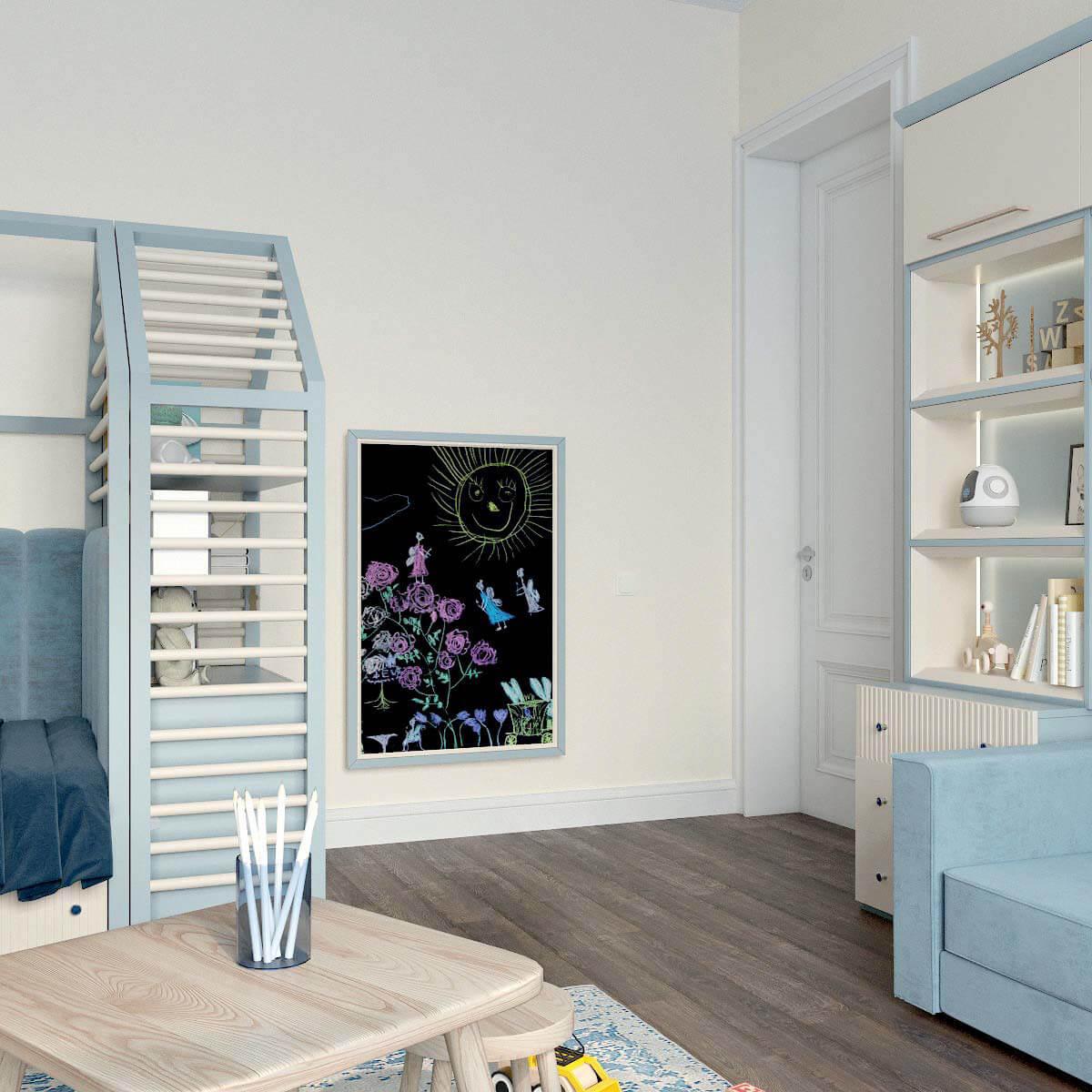 Мебель детской комнаты для мальчика проект 3123-2