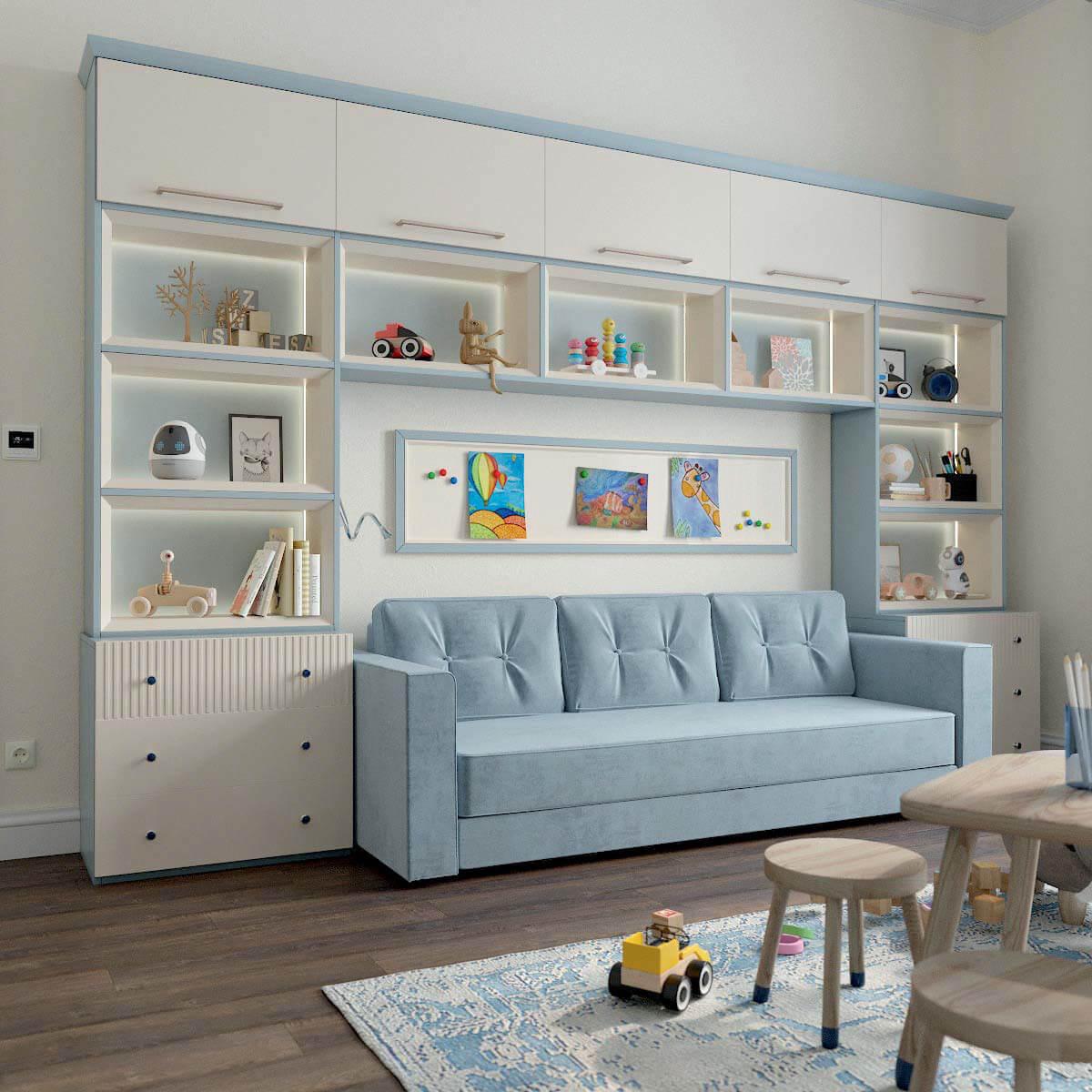 Мебель детской комнаты для мальчика проект 3123-3