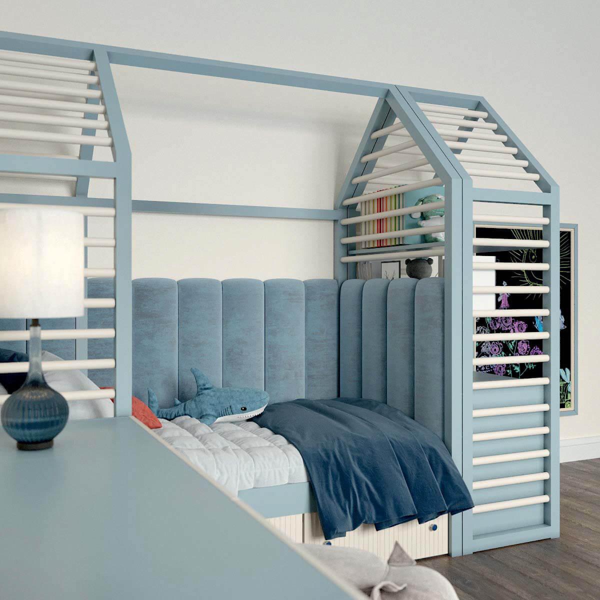 Мебель детской комнаты для мальчика проект 3123-4