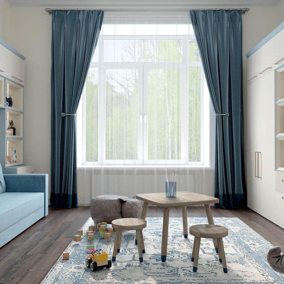 Мебель детской комнаты для мальчика проект 3123-5