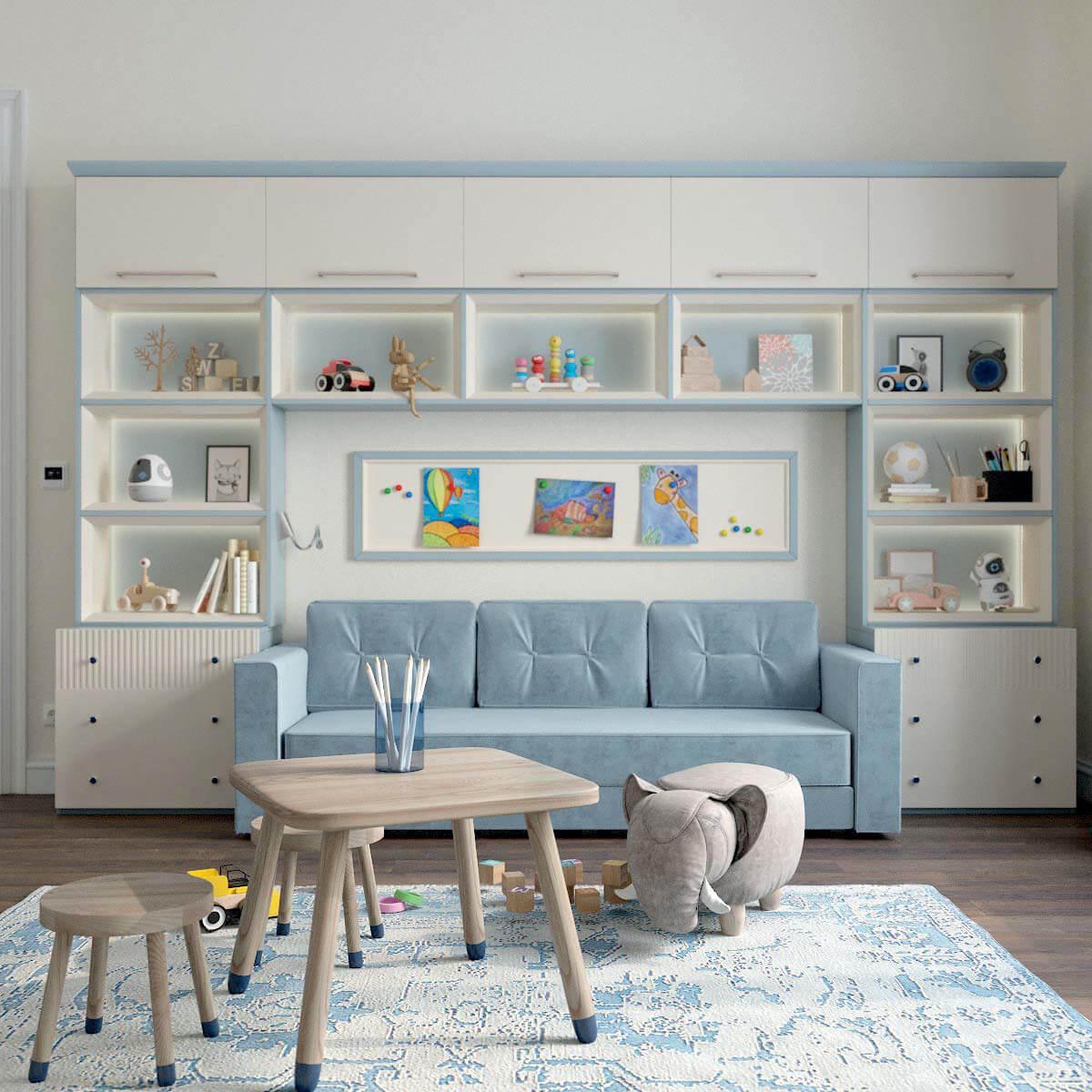 Мебель детской комнаты для мальчика проект 3123-6