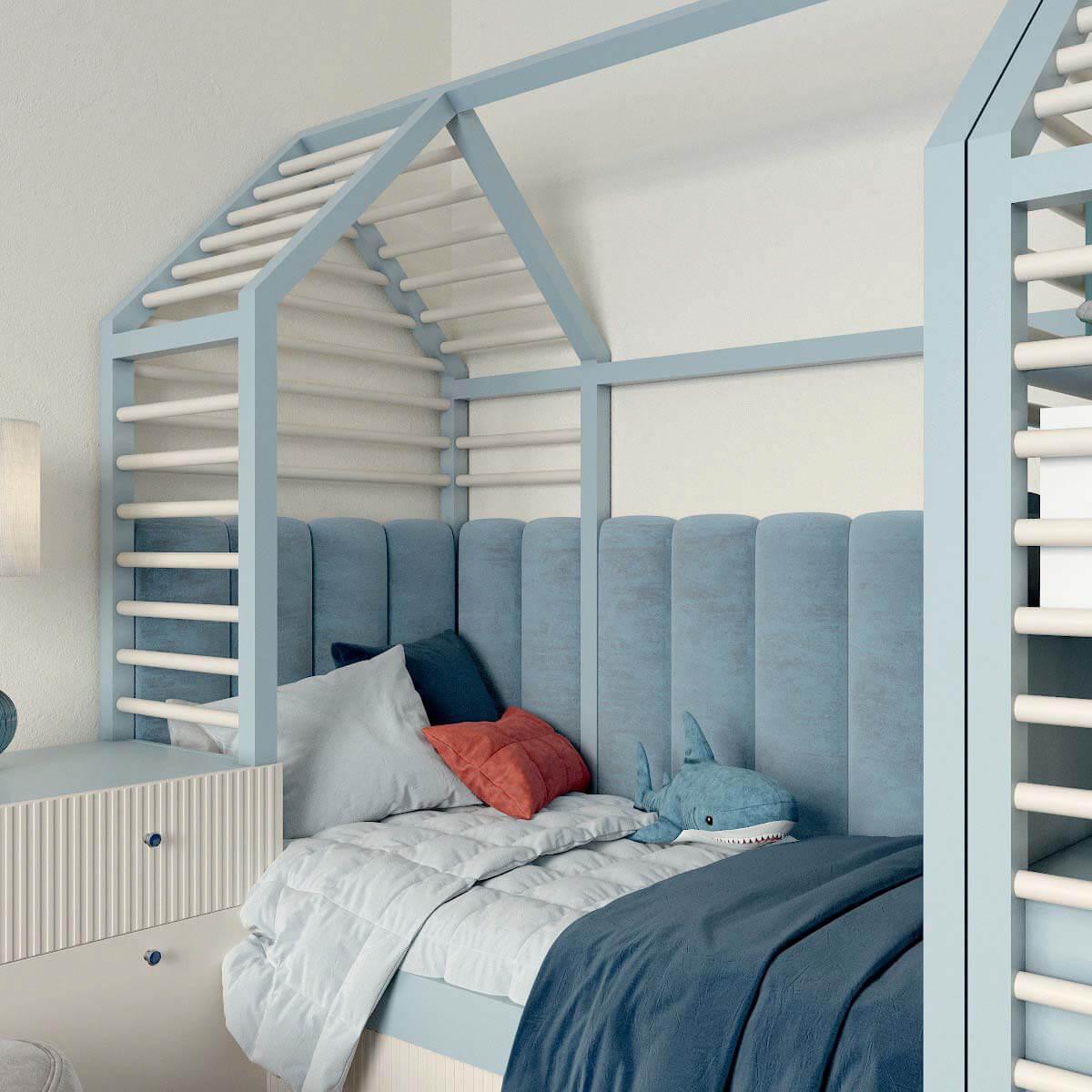Мебель детской комнаты для мальчика проект 3123-7