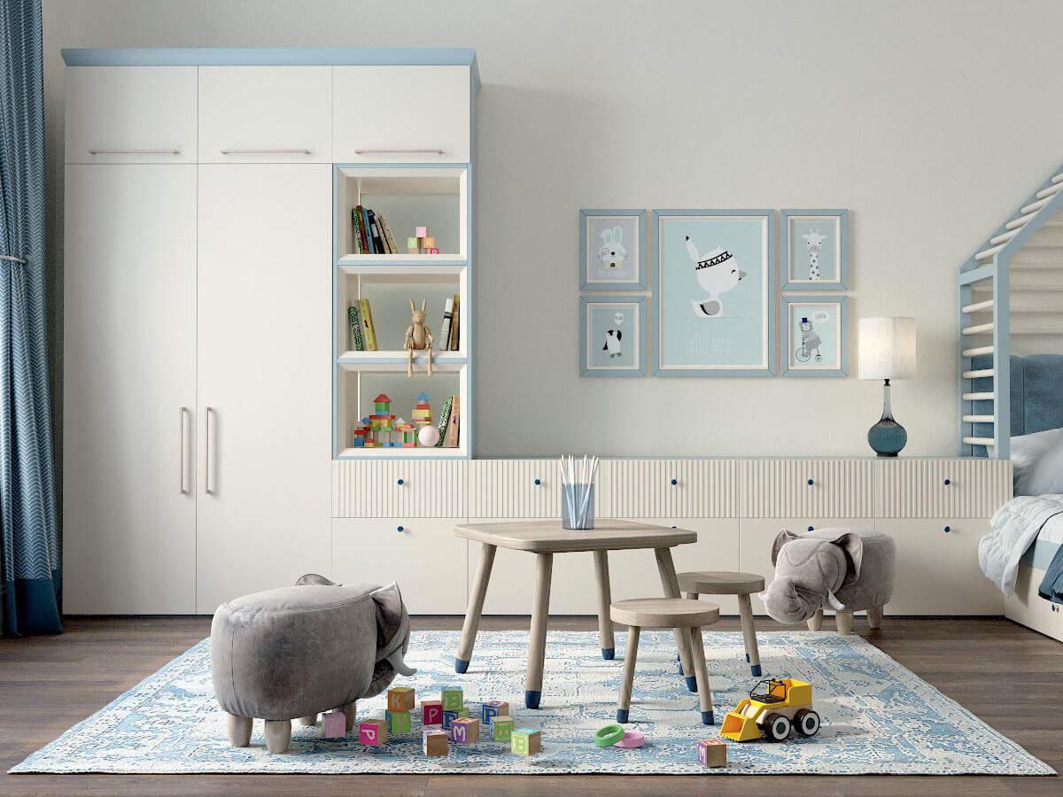 Мебель детской комнаты для мальчика проект 3123-8