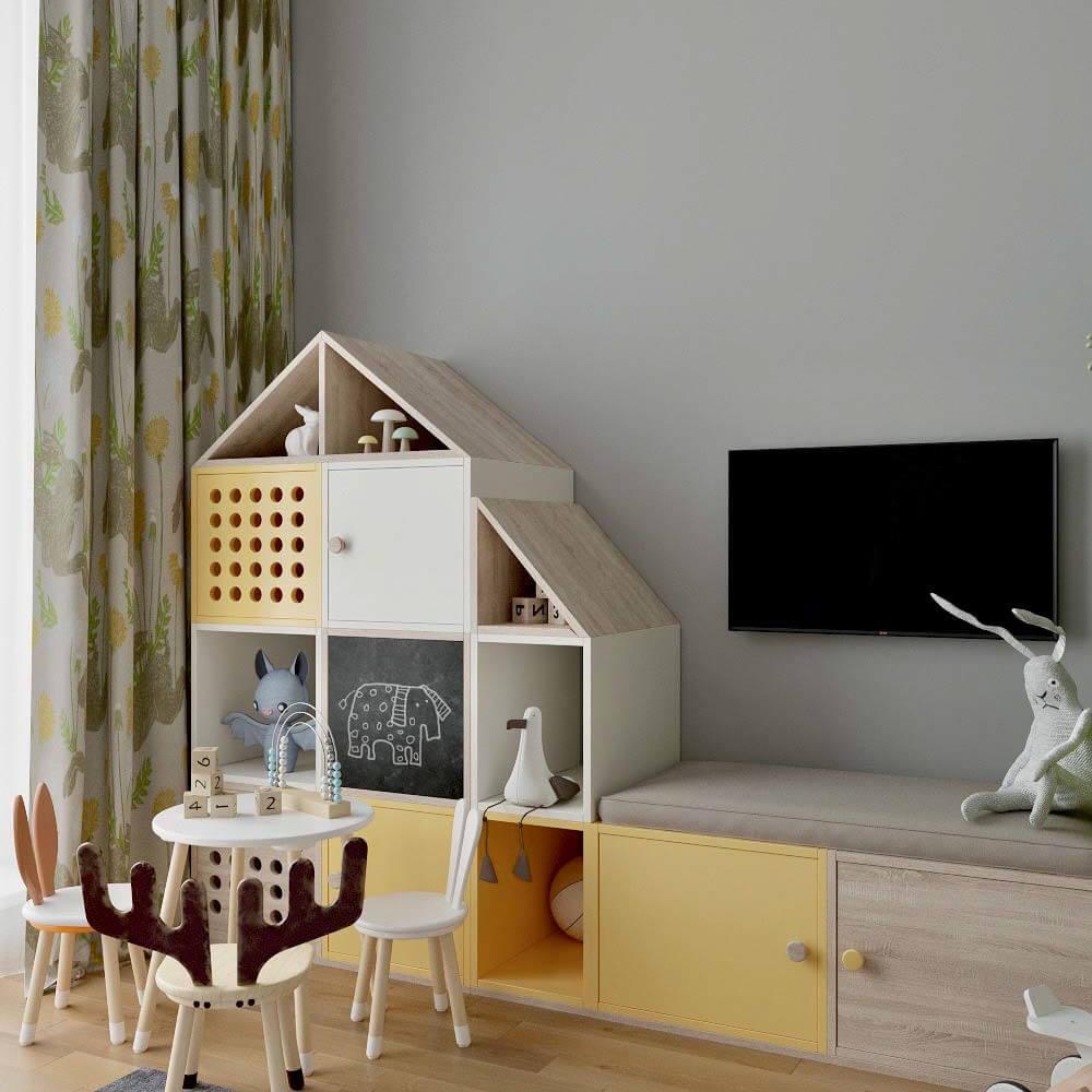 Мебель детской комнаты для мальчика проект 3299-1