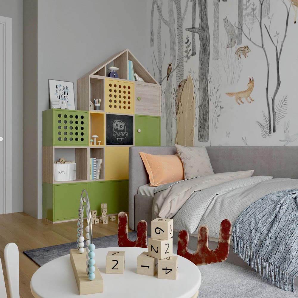 Мебель детской комнаты для мальчика проект 3299-3