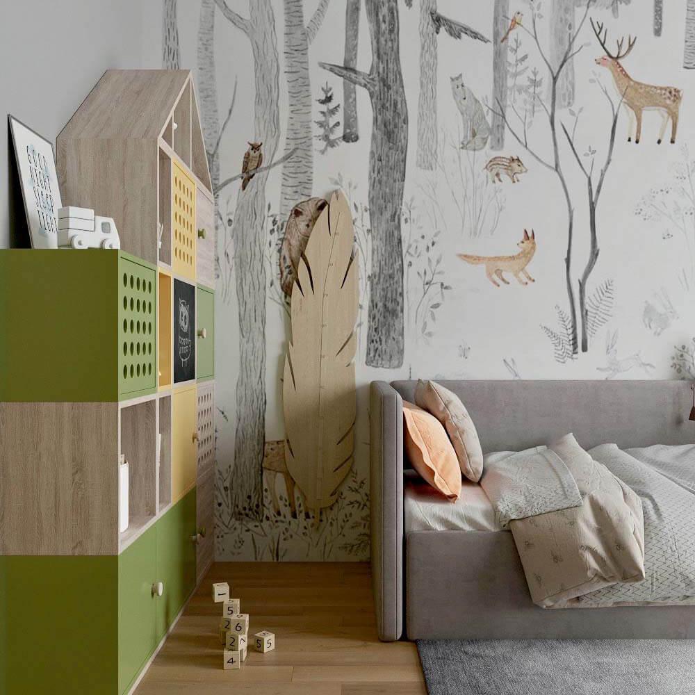 Мебель детской комнаты для мальчика проект 3299-5