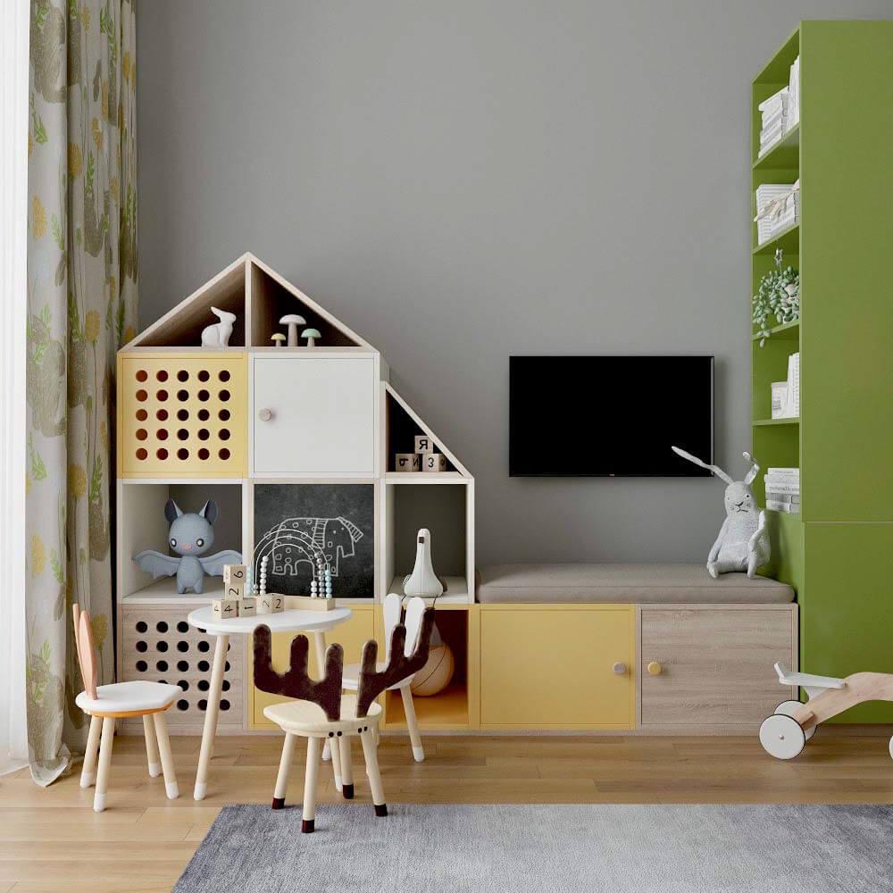 Мебель детской комнаты для мальчика проект 3299-7