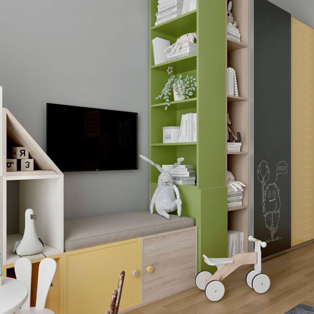 Мебель детской комнаты для мальчика проект 3299-8
