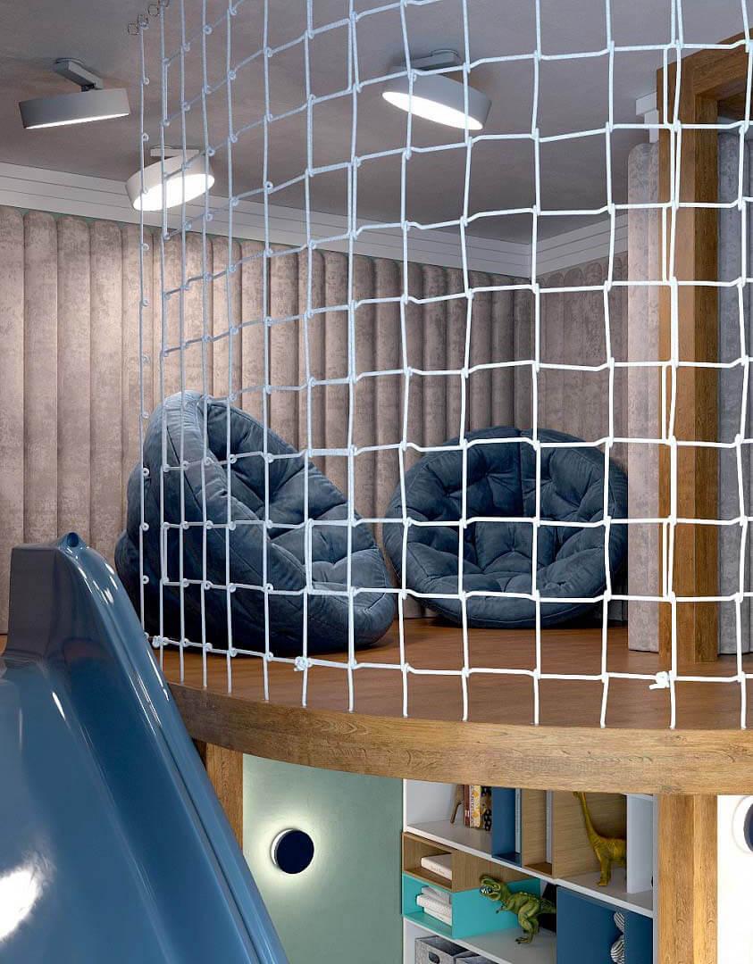 Мебель детской комнаты для мальчика 6 лет проект 3741-4
