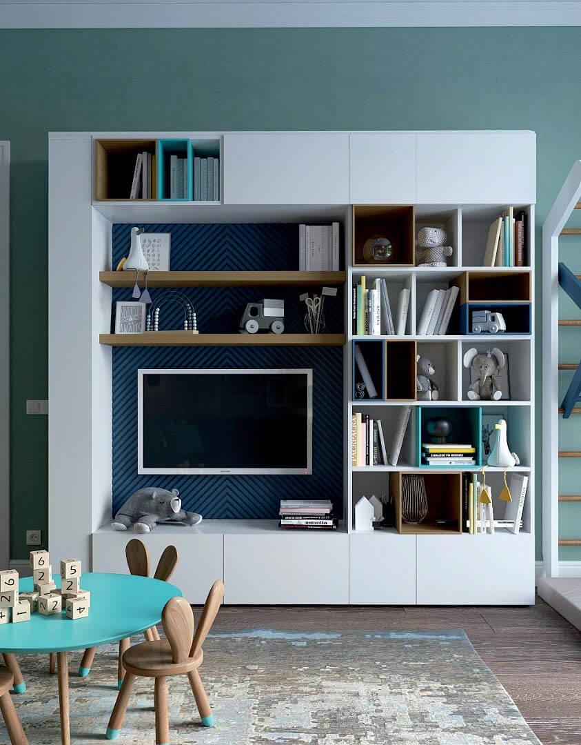 Мебель детской комнаты для мальчика 6 лет проект 3741-5