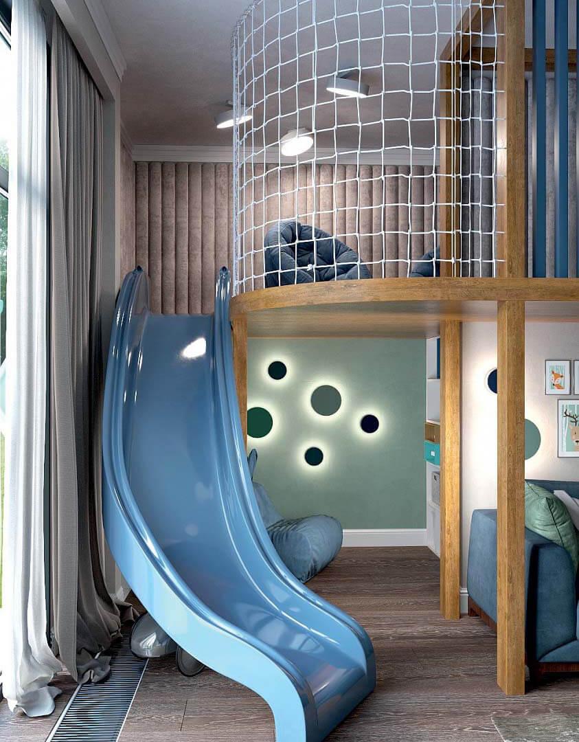Мебель детской комнаты для мальчика 6 лет проект 3741-6