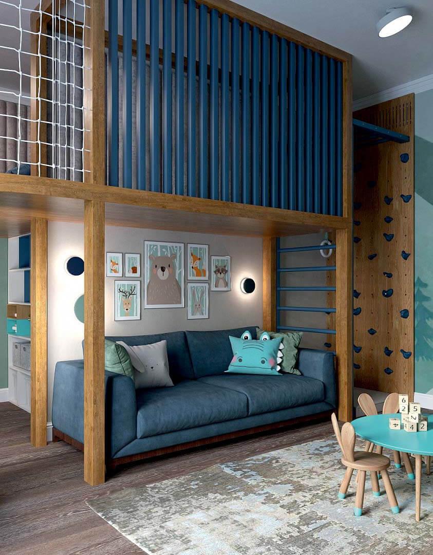 Мебель детской комнаты для мальчика 6 лет проект 3741-9